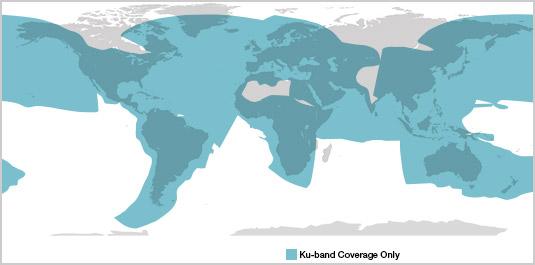 Ku Band Coverage Overlay